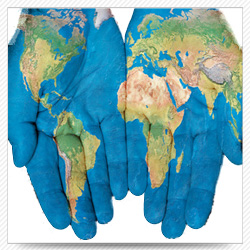 Mil geospatial our services hands with world map gumiabroncs Images